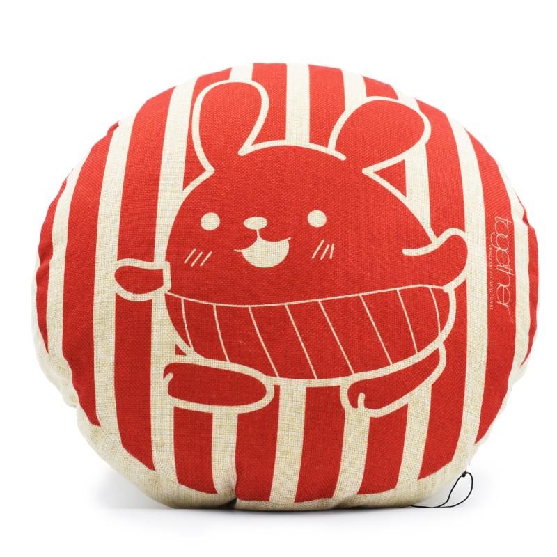 "Together ""Tin Tin Stripe"" Circle Cushion (302295R) 1件"