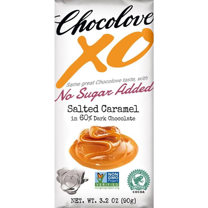 (07/2021) Chocolove xoxox-美國60%可可含量無添加糖咸焦糖黑朱古力(已過最佳食用日期)