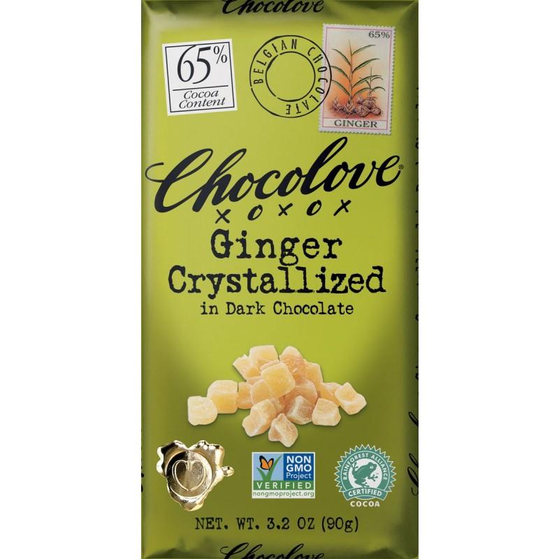 (07/2021) Chocolove xoxox-美國65%可可含量薑粒黑朱古力(已過最佳食用日期)