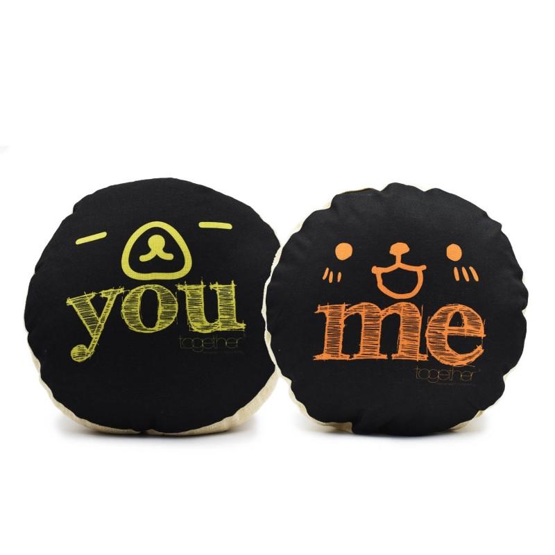 "Together ""You & Me"" Circle Cushion (302298BK & 302299BK) 一套兩件"